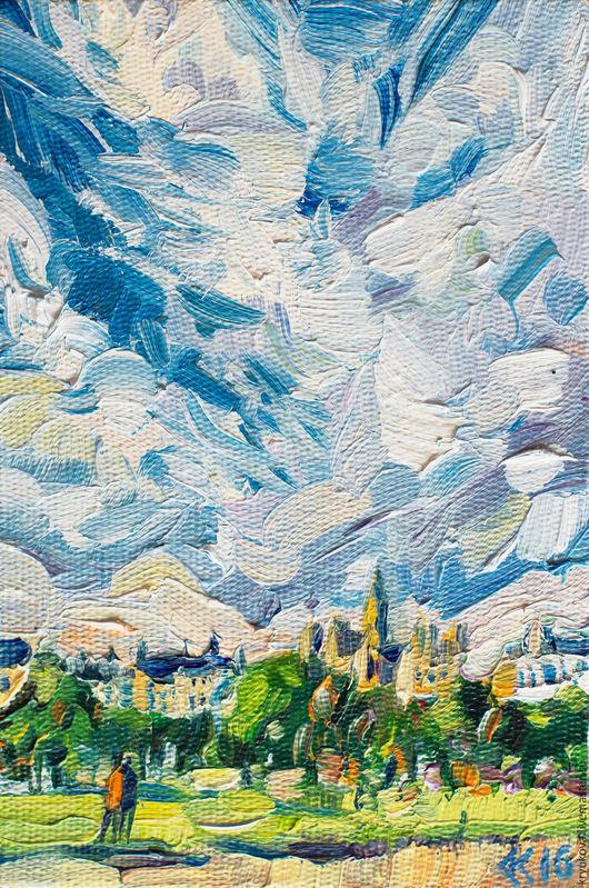 Картина маслом пейзаж Маленький венский этюд Австрия Вена картина Картина старый город пейзаж Город маслом пейзаж Городской пейзаж картина