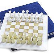 Активный отдых и развлечения handmade. Livemaster - original item Chess made of stone Marble and Onyx 30, PakShah. Handmade.
