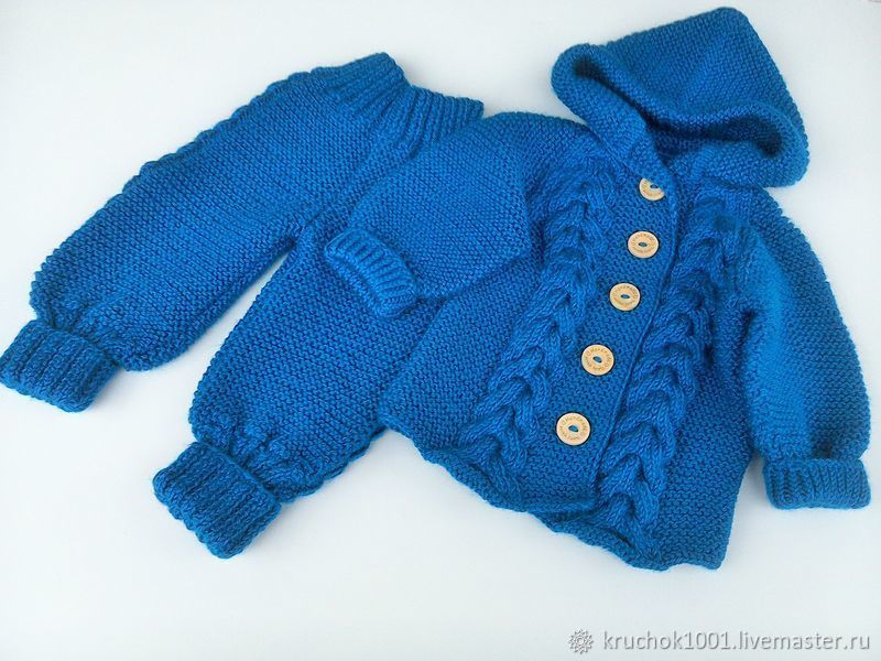 Unisex Clothing handmade. Livemaster - handmade. Buy The Suit Is ' Pigtails'.Kit, newborn, set knitted
