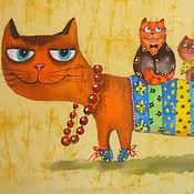 Картины и панно ручной работы. Ярмарка Мастеров - ручная работа Мамуля (батик панно)РЕЗЕРВ. Handmade.