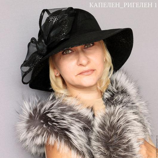 Шляпы ручной работы. Ярмарка Мастеров - ручная работа. Купить Широкополая шляпа-Капелен. Handmade. Черный, шляпка, шляпа с полями