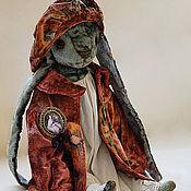"""Куклы и игрушки ручной работы. Ярмарка Мастеров - ручная работа """"Голубая зайка в розовом пальто"""". Handmade."""