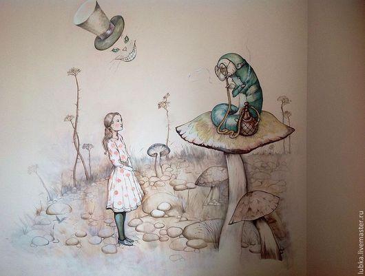 Декор поверхностей ручной работы. Ярмарка Мастеров - ручная работа. Купить Роспись стены в детской комнате. Handmade. Роспись стен