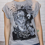 T-shirts handmade. Livemaster - original item T-shirt with hand-painted Tim Burton and the characters in the films. Handmade.