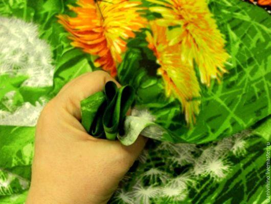 """Шитье ручной работы. Ярмарка Мастеров - ручная работа. Купить Бязь, рисунок - """"Лето"""". Handmade. Комбинированный, зеленый, растительный принт"""