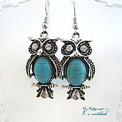 Украшения handmade. Livemaster - original item Turquoise set SAE and hibou