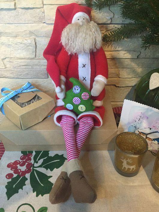 Куклы Тильды ручной работы. Ярмарка Мастеров - ручная работа. Купить Дед Мороз. Handmade. Дед мороз, санта тильда