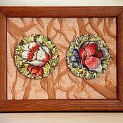 Картины и панно ручной работы. Ярмарка Мастеров - ручная работа Два цветка. Handmade.