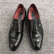Обувь ручной работы handmade. Livemaster - original item Crocodile leather oxfords, handmade, custom tailoring!. Handmade.
