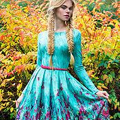 Одежда ручной работы. Ярмарка Мастеров - ручная работа Мятное платье. Handmade.