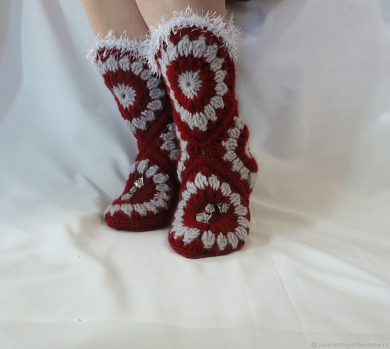 boots knitted, High Boots, Balashov,  Фото №1