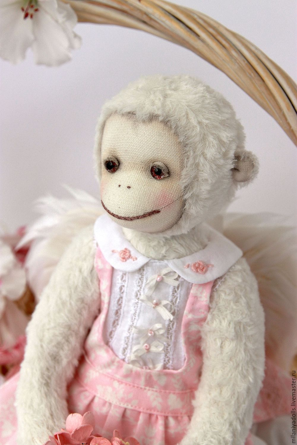 Friends Teddy. The author's work.Monkey Laura. ' Spring mood', Stuffed Toys, Vladikavkaz,  Фото №1