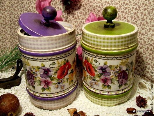 Кухня ручной работы. Ярмарка Мастеров - ручная работа. Купить Баночки для кухни Цветы лета. Handmade. Банка для продуктов, подарок