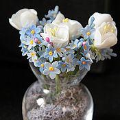 Цветы и флористика ручной работы. Ярмарка Мастеров - ручная работа букетик незабудок и цветы яблони. Handmade.