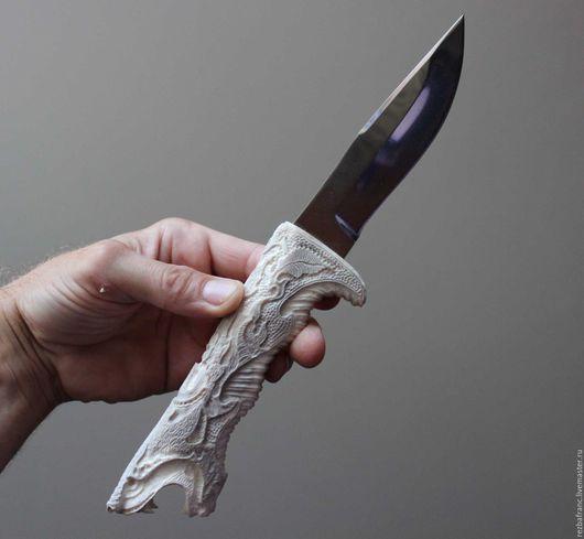 Подарки для мужчин, ручной работы. Ярмарка Мастеров - ручная работа. Купить Нож Викинг (сталь 95х18, рог лося).9с. Handmade.