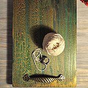 Деревянный поднос-фотофон
