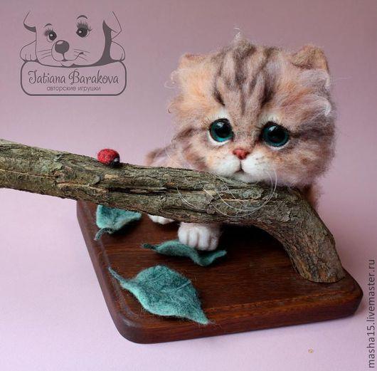 """Куклы и игрушки ручной работы. Ярмарка Мастеров - ручная работа. Купить """"Мурлыся"""". Handmade. Коллекционные игрушки, стеклянные глаза"""