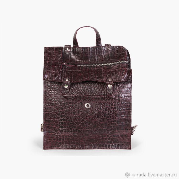Фиолетово-черный рюкзак-трансформер под змею Джастин, Рюкзаки, Москва,  Фото №1