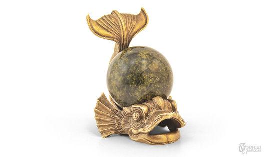 Статуэтки ручной работы. Ярмарка Мастеров - ручная работа. Купить Рыба-кит. Handmade. Рыба, кит, скульптура, скульптура из бронзы
