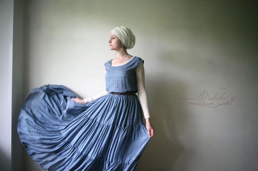 """Платья ручной работы. Ярмарка Мастеров - ручная работа. Купить Сарафан """"Рувейда"""". Handmade. Голубой, платье, сарафан, длинный сарафан"""