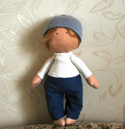 Коллекционные куклы ручной работы. Ярмарка Мастеров - ручная работа. Купить Текстильная кукла - мальчик. Handmade. Интерьерная кукла