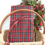 Материалы для творчества ручной работы. Ярмарка Мастеров - ручная работа Корейская  ткань шотландка. Handmade.
