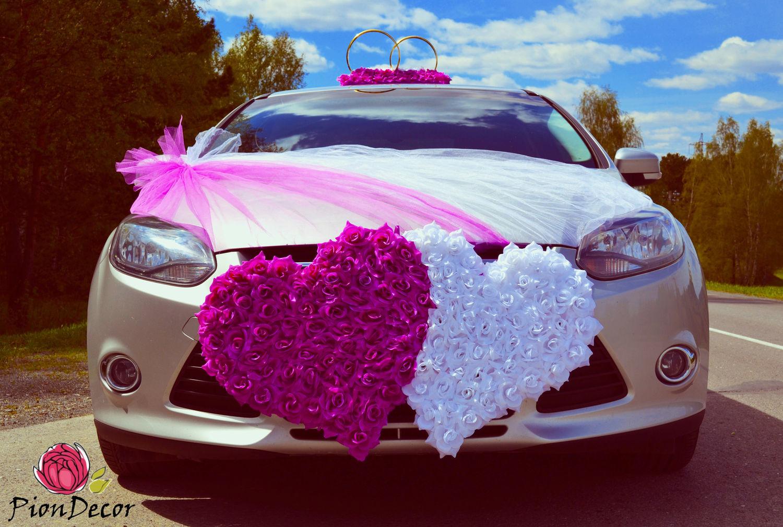 Свадебные украшения на авто №1 / фиолетовый, фуксия, Свадебные аксессуары, Кемерово,  Фото №1