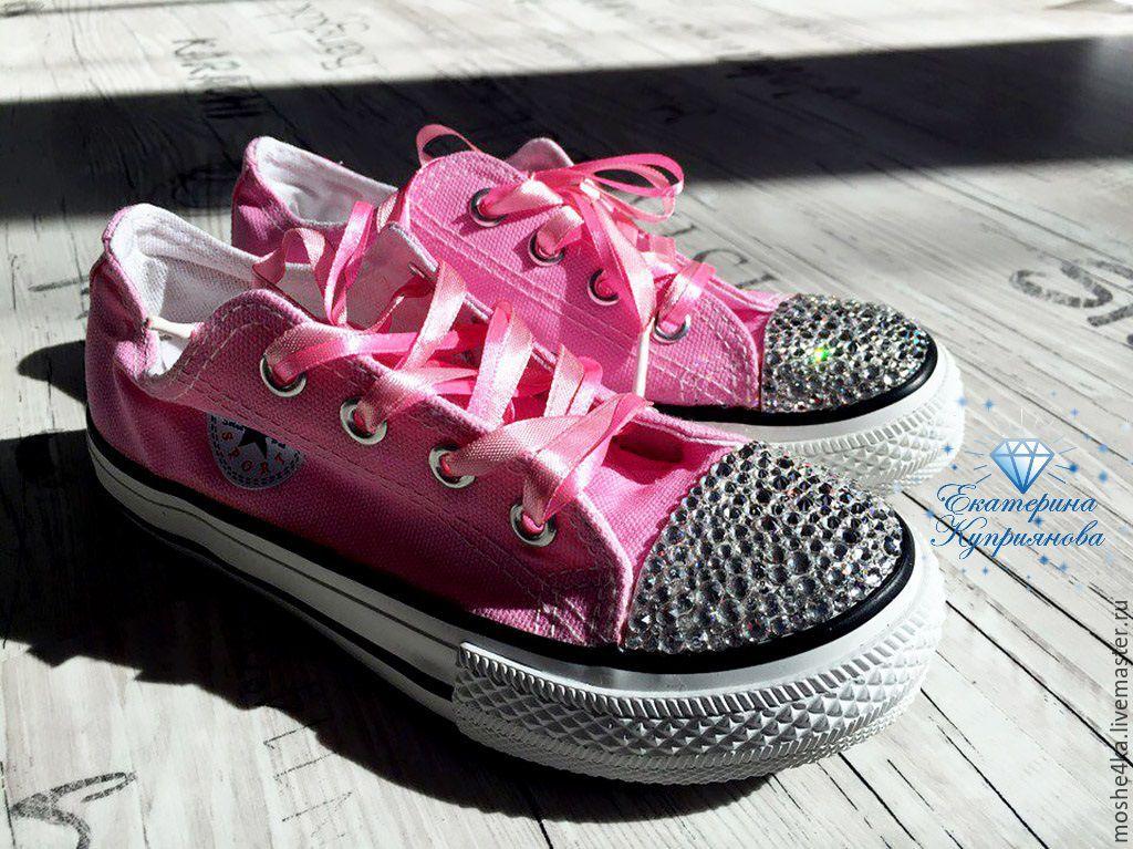Обувь ручной работы. Ярмарка Мастеров - ручная работа. Купить Кеды с  кристаллами Swarovski. a78e98be19b72