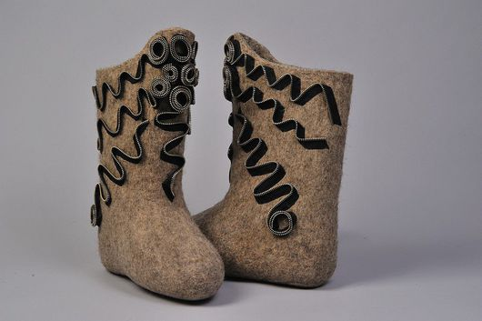 """Обувь ручной работы. Ярмарка Мастеров - ручная работа. Купить Валенки """"Молны"""". Handmade. Валенки, молнии"""