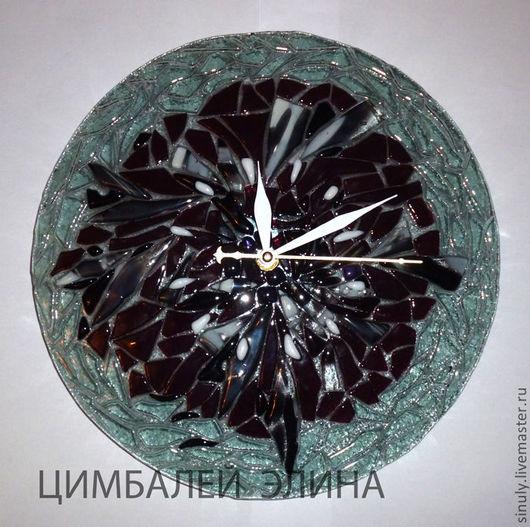 """Часы для дома ручной работы. Ярмарка Мастеров - ручная работа. Купить Часы """"Настроение"""" фьюзинг. Handmade. Часы, часы фьюзинг"""