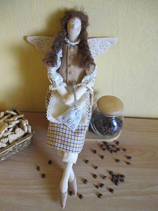 Куклы Тильды ручной работы. Ярмарка Мастеров - ручная работа. Купить Кофейная фея Маричка. Handmade. Тильда, бязь