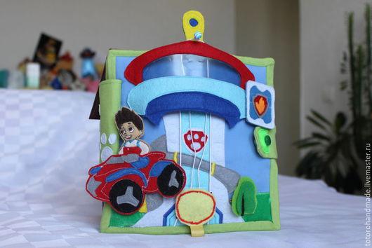Развивающие игрушки ручной работы. Ярмарка Мастеров - ручная работа. Купить Развивающая книжка Щенячий патруль. Handmade. Развивающая книжка