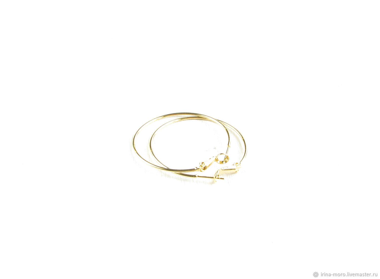 Gold Hoop earrings 'Congo' large earrings Congo,buy, Congo earrings, Moscow,  Фото №1
