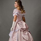 Одежда ручной работы. Ярмарка Мастеров - ручная работа Историческое бальное платье с турнюром. Handmade.