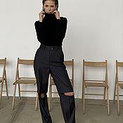 Одежда handmade. Livemaster - original item Thin turtleneck with angora vest 2in1. Handmade.
