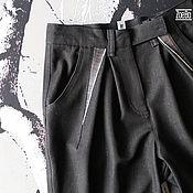 Одежда handmade. Livemaster - original item Pinched denim pants, high waist jeans. Handmade.
