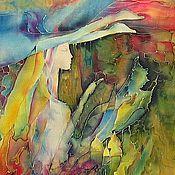 """Картины и панно ручной работы. Ярмарка Мастеров - ручная работа Картина на шелке """" Весна"""". Handmade."""