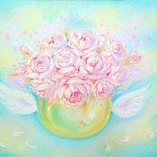 Картины и панно handmade. Livemaster - original item Pictures: Painting Peonies with love. Handmade.
