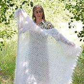 Аксессуары handmade. Livemaster - original item Shawls: Openwork down shawl