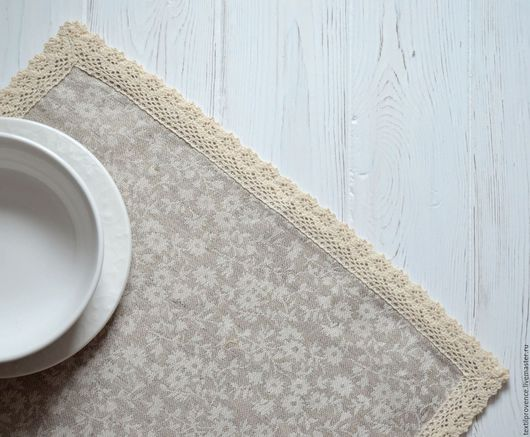 Кухня ручной работы. Ярмарка Мастеров - ручная работа. Купить Комплект салфеток лен. Handmade. Прованс, текстиль для кухни, для кухни