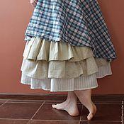 """Одежда ручной работы. Ярмарка Мастеров - ручная работа Длинная юбка из хлопка """"Вероника"""". Handmade."""