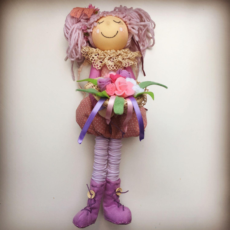 Домашний ангел с букетом, Куклы Тильда, Москва,  Фото №1
