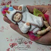 Куклы Reborn ручной работы. Ярмарка Мастеров - ручная работа Мини реборн в аутфите единорожки. Handmade.