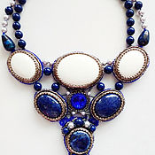 Свадебный салон handmade. Livemaster - original item Necklace with natural stones Blue dreams. Handmade.