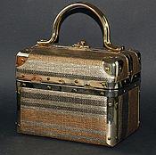 Винтаж ручной работы. Ярмарка Мастеров - ручная работа Винтажная дамская сумка-чемоданчик. Handmade.