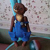 Куклы и игрушки ручной работы. Ярмарка Мастеров - ручная работа Мишка с мячиком (папье-маше). Handmade.