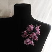 Украшения handmade. Livemaster - original item Brooch pin with lilac flowers.. Handmade.