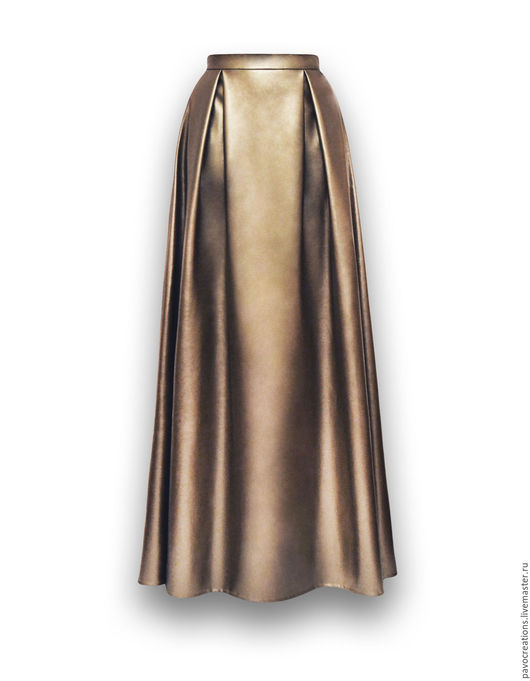 Юбки ручной работы. Ярмарка Мастеров - ручная работа. Купить Юбка из искусственной кожи. Handmade. Золотой, дизайнерская одежда, брюки