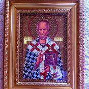 Картины и панно ручной работы. Ярмарка Мастеров - ручная работа Икона Бисером. Handmade.