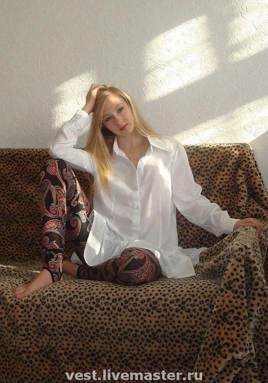 """Блузки ручной работы. Ярмарка Мастеров - ручная работа. Купить Блуза белая""""Балеринка"""". Handmade. Блузка, хлопок"""